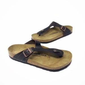 Birkenstock NEW Gizeh Sandal Oiled Leather Habana